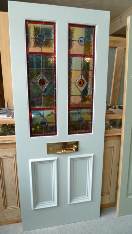 Stained Glass Front Door 2 Over 2 Panels Stained Glass Doors Company