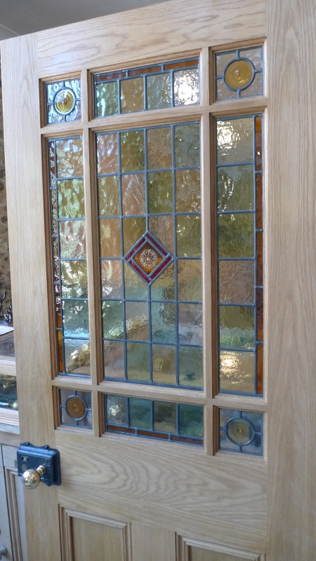 Stained Glass Interior Vestibule Door