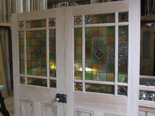 Stained Glass Pitch Pine Room Dividers