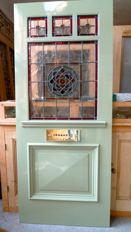 The stained glass doors company for 1950s front door designs