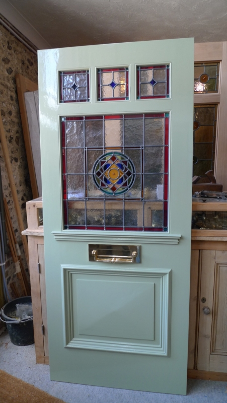 Victorian style 3 over 1 panel glazed door