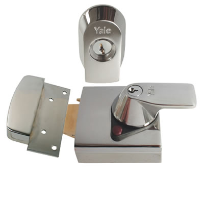 Yale PBS1 High Security Nightlatch - 60mm Backset - Polished Chrome