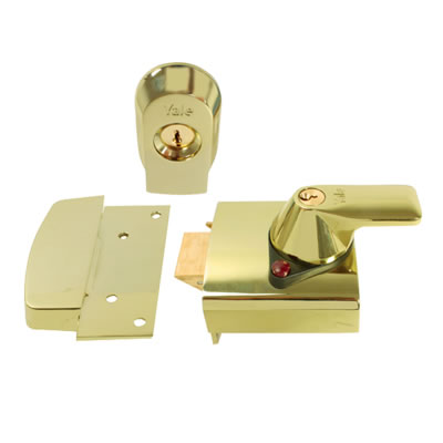 Yale PBS1 High Security Nightlatch - 60mm polished brass