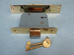 5 Lever Insurance Rated Deadlock : Brass Finish