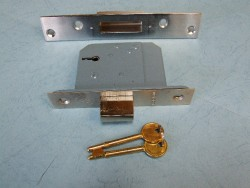 5 Lever Insurance Rated Deadlock : Chrome Finish