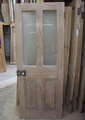 Half Glazed Interior Pitch Pine Door Stained Glass Doors