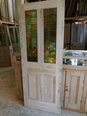 Half Glazed Victorian 4 Panel Style Pitch Pine Door