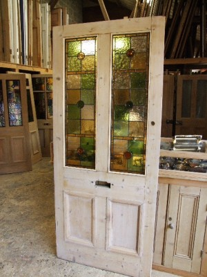 Antique Stained Glass Entrance Door Stained Glass Doors